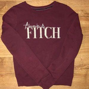 Burgundy Embellished Sweater